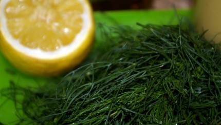 lemon, dill, cucumber salad dressing