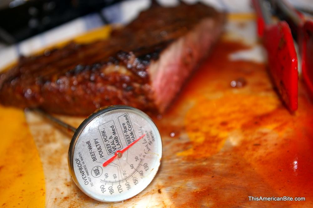 First Slice Grilled Brisket
