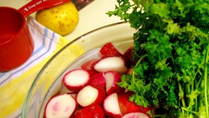 radish in a bowl