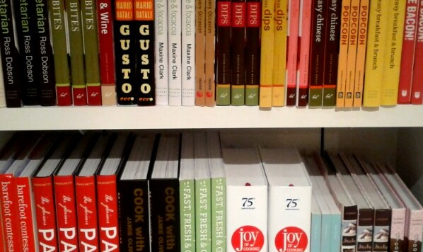 Cook Books on a Shelf in Crate and Barrel