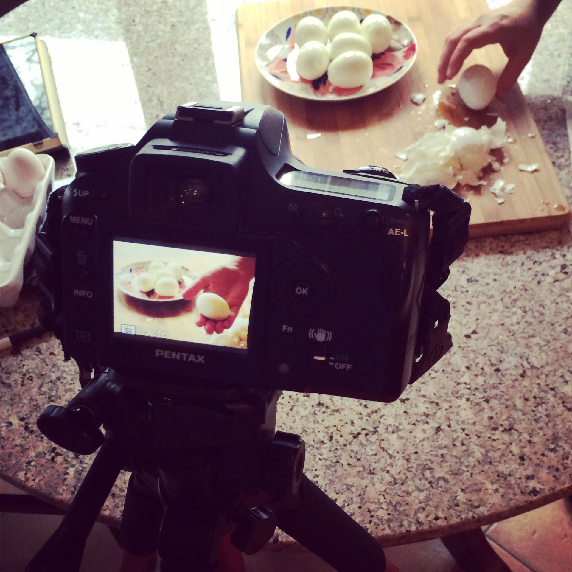 Time lapse cooking photography