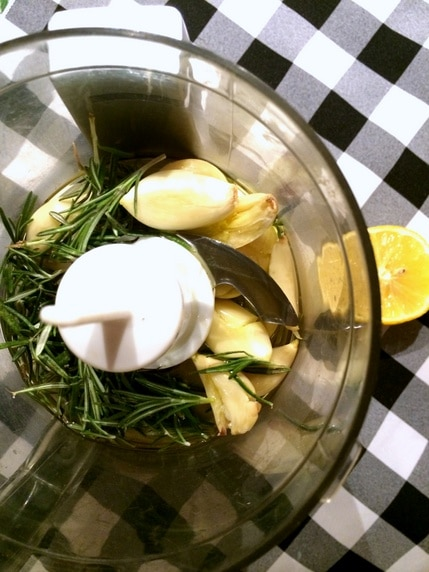 Lemon, rosemary and garlic for lamb