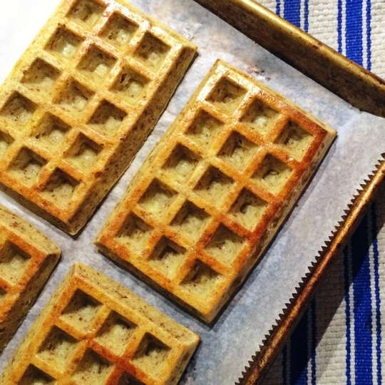 You can make these waffles in the oven (no need for a waffle iron) with a Lékué Waffle Baker. Click on this image to get yours!