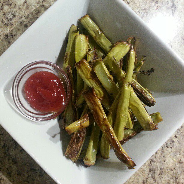 Broccoli Stalk Fries