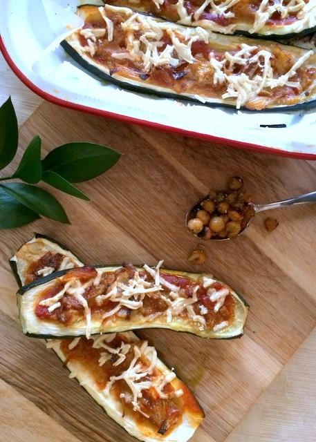 Gluten Free Zucchini Pizza Boats