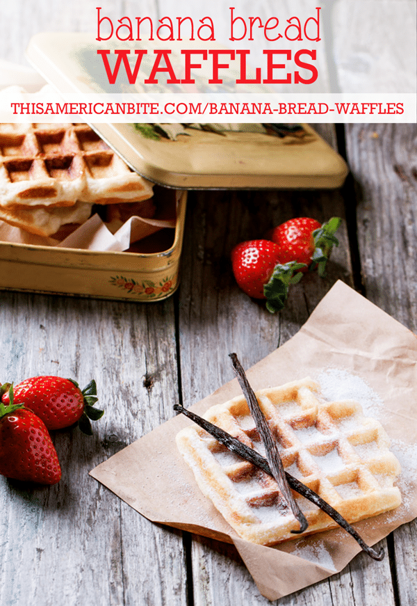 Change up your Sunday Brunch with these Banana Bread Waffles
