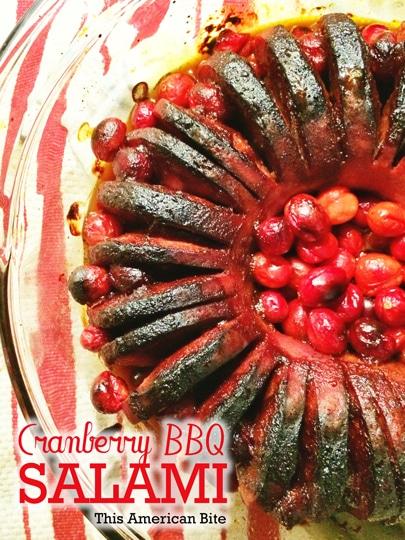 Cranberry-BBQ-Hasselback-Salami