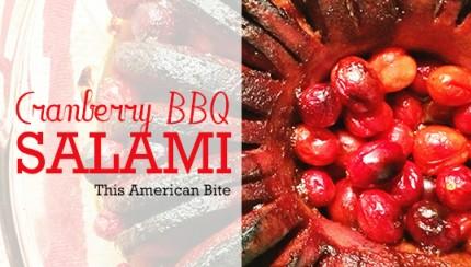 Cranberry BBQ Hasselback Salami