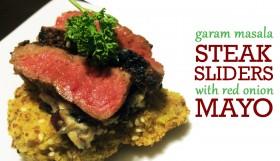 Garam Masala Steak Sliders with Red Onion Mayo