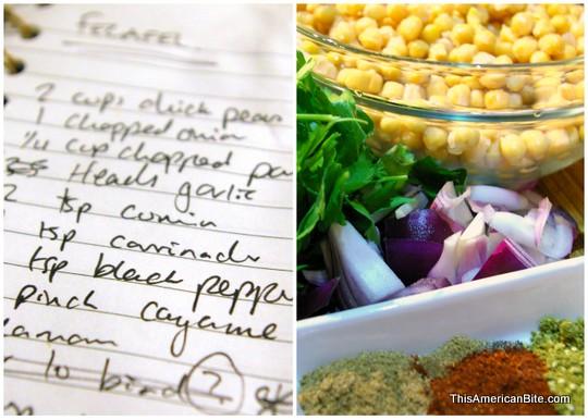 Felafel ingredients