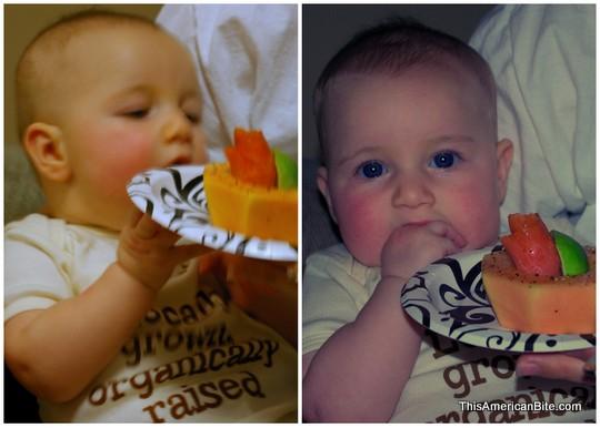 Baby with Papaya