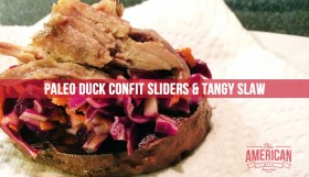Ghetto Duck Confit Slider with Red Cabbage Slaw