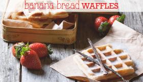 Gluten Free Banana Bread Waffles