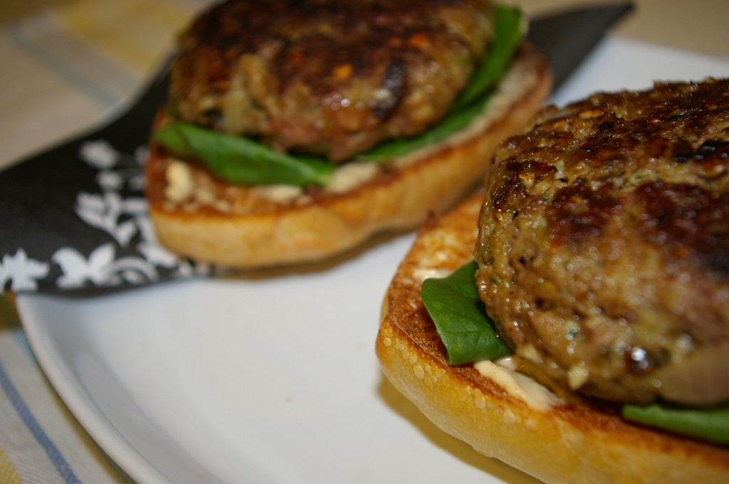 spinach and sun dried tomato burgers