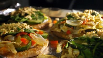 Protein Rich Pita Pizzas