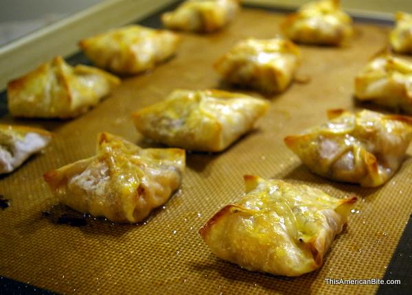 baked wontons