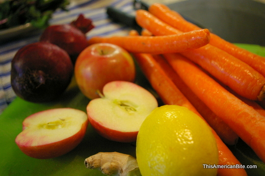 Fresh produce for juicer