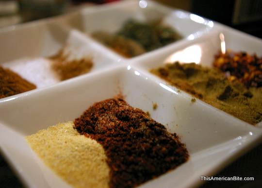 Ingredients for homemade taco seasoning