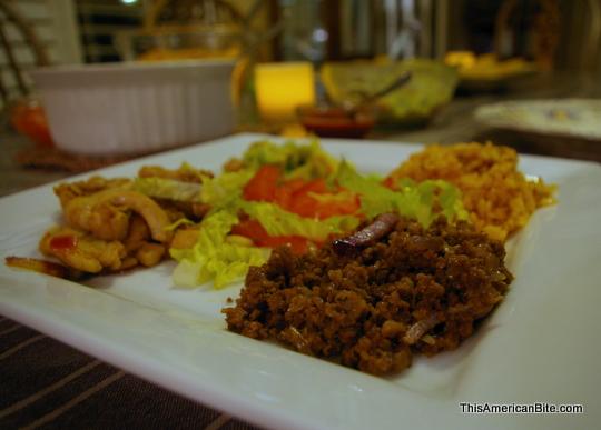 Family Style Taco dinner