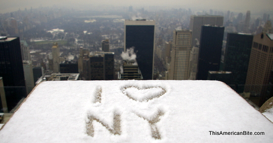 I <3 NY from the top of the rock