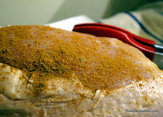 Turkey breast with shwarma spice