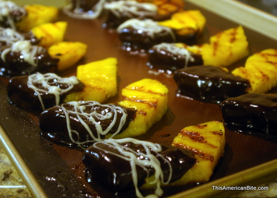 Cayenne Chocolate Dipped Pineapple