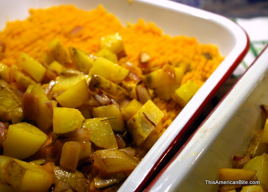 Sheaprd's pie with crispy topping