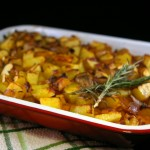 Sweet Potato Shepard's Pie topped with Crispy Potatoes