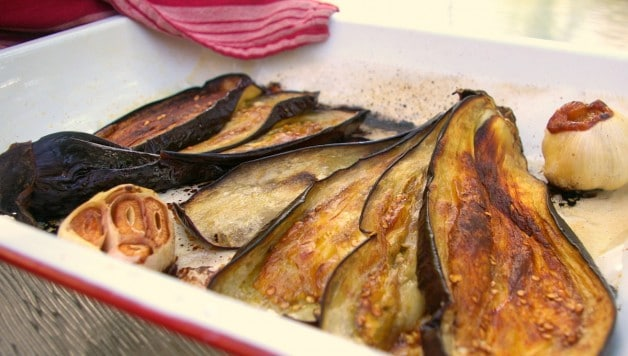 Roasted eggplant photo
