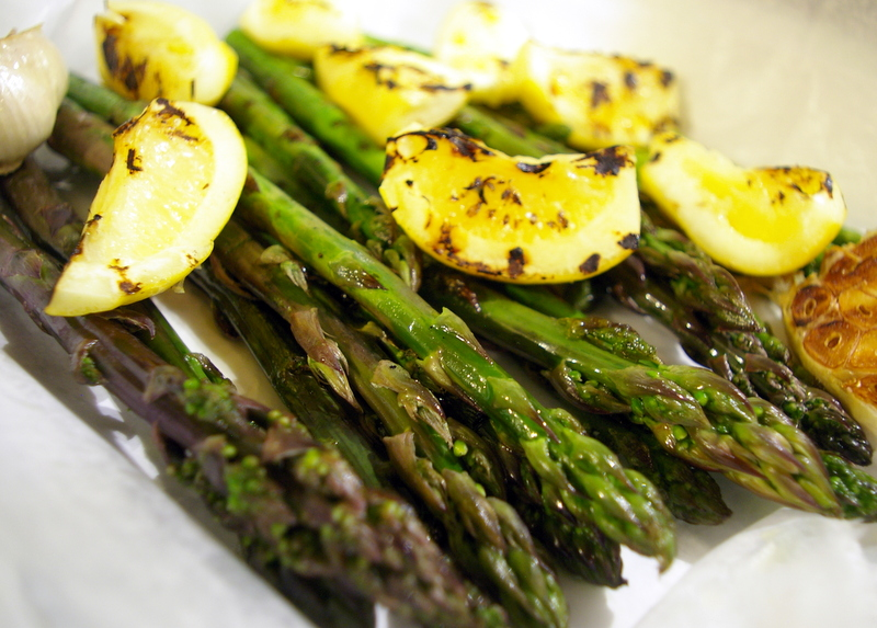Grilled Asparagus with Grilled Pickled Lemons