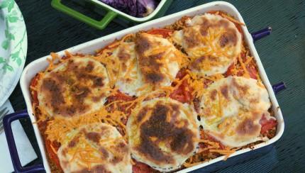 Vegan Quinoa Pizza Casserole with Daiya Cheese