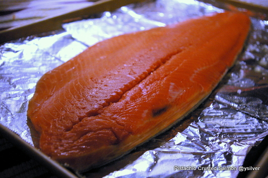 Pistachio nut salmon