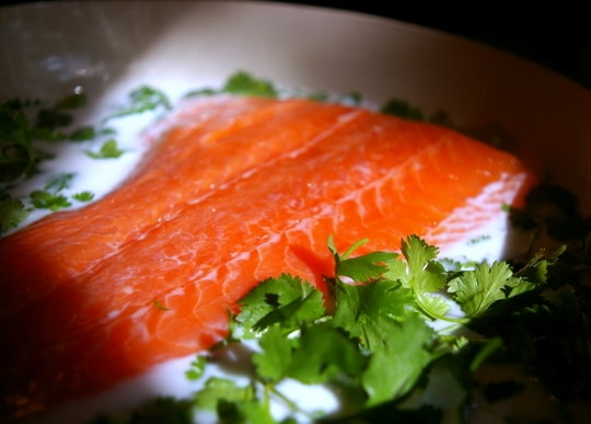 Just three ingredients: Salmon, coconut milk and cilantro