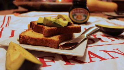 Marmite Avocado Sandwich