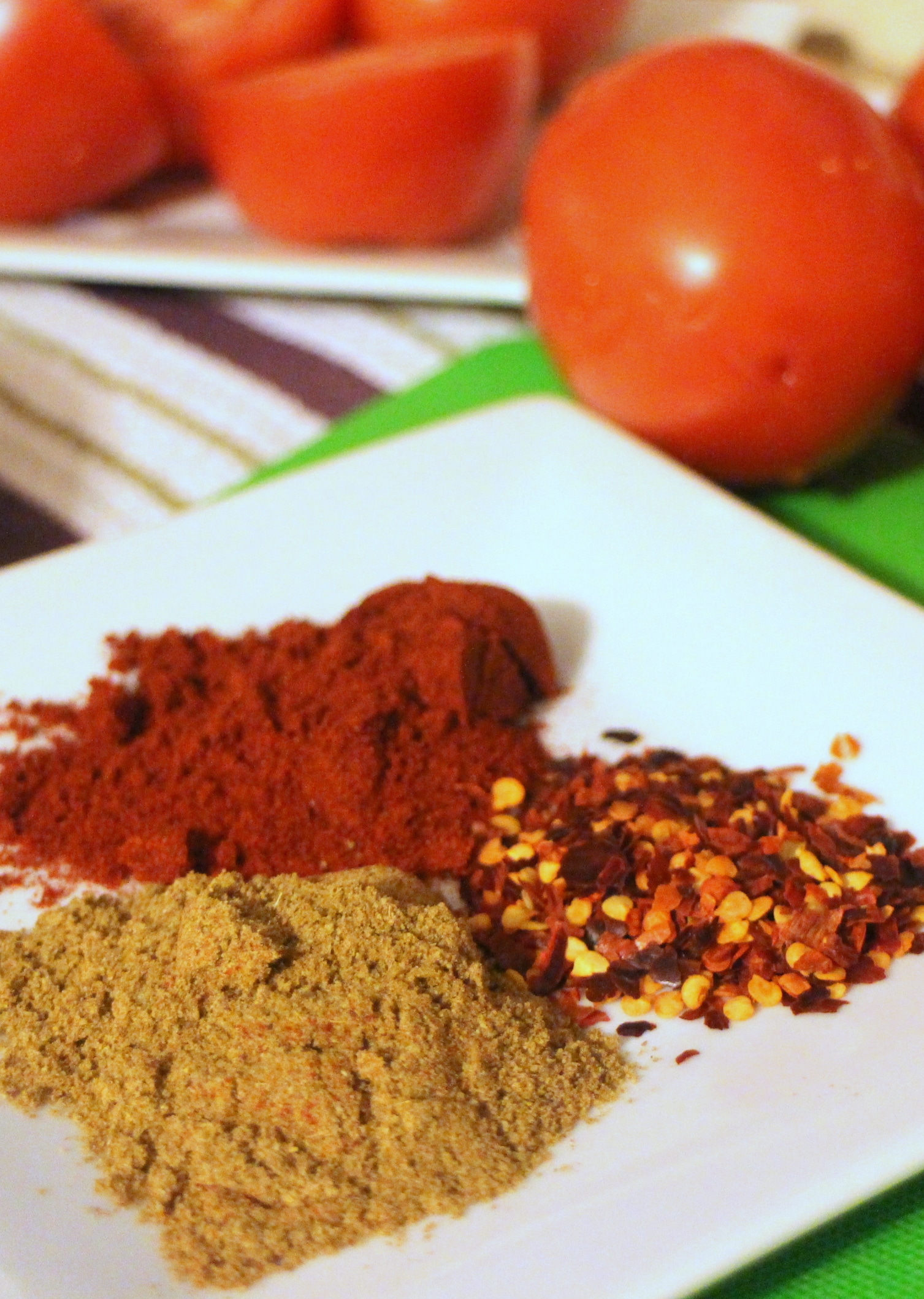 Cumin, Red Chili Flakes and Paprika for Matbucha