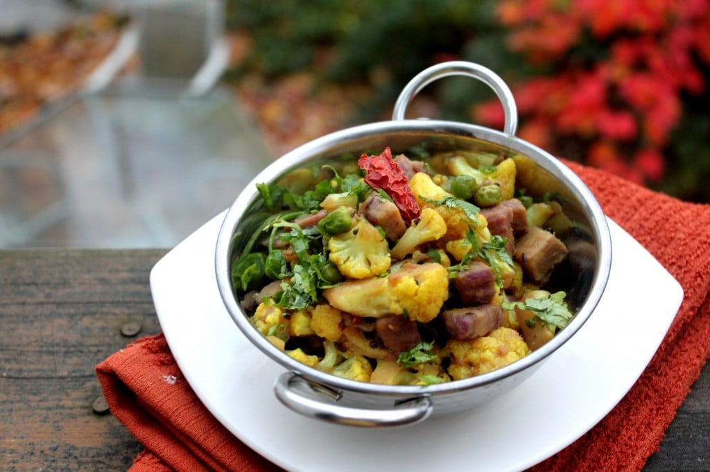 Caluiflower and sweet potato medley