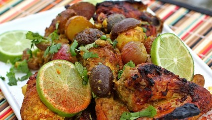 KOLKATA SPICY JEWISH CHICKEN ROAST WITH POTATOES