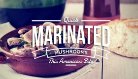 Marinated Mushrooms in red wine
