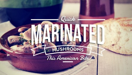 Marinated Mushrooms in red wine