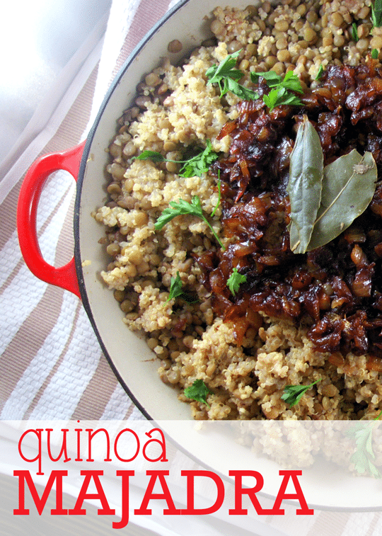 Quinoa Majadra and Bob's Red Mill Giveaway