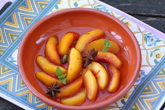 Saffron Riesling Peaches