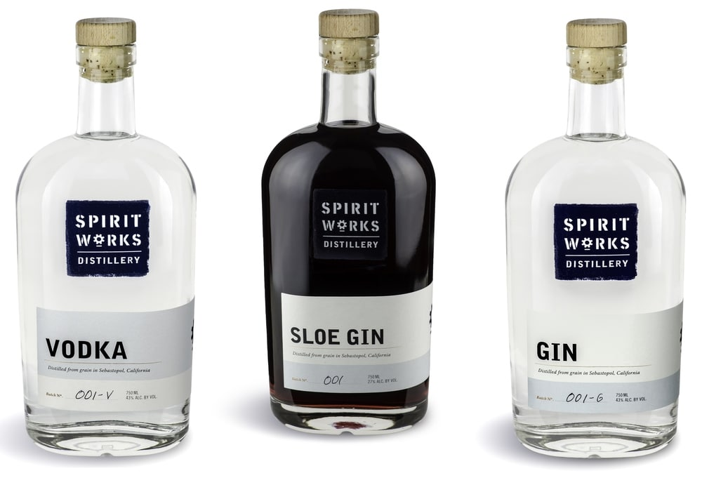 Spirit Works Distillery, Vodka, Gin and SloeGin