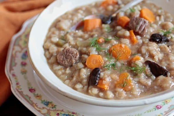 Beef and Barley Soup Just Like Grandma Made - Kosher Like Me
