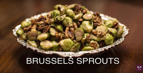 Brussel Sprouts with Walnuts & Dill - Kosher by Gloria