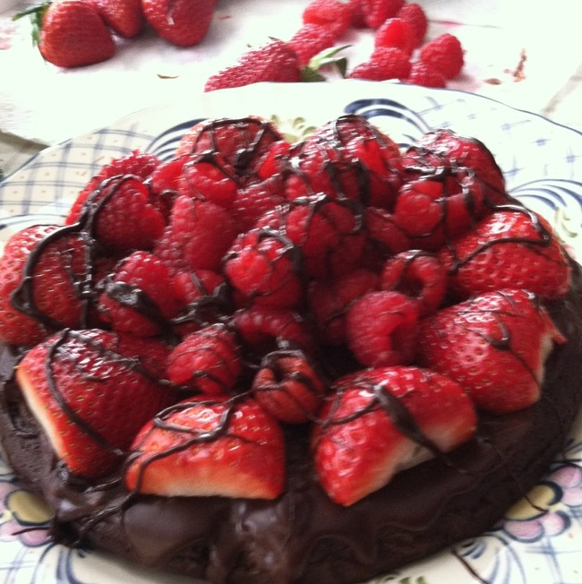 Decadent Flourless Chocolate Cake - This American Mama