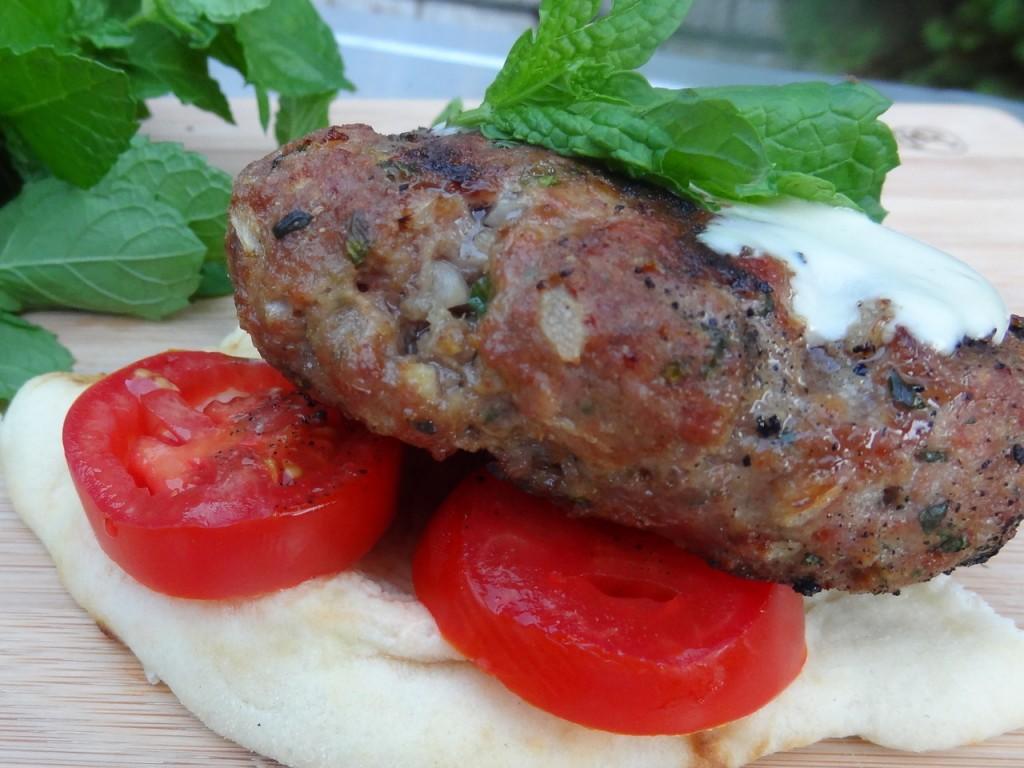How to cook lamb - Lamb Burgers in Pita with Lemon-Tahini Sauce