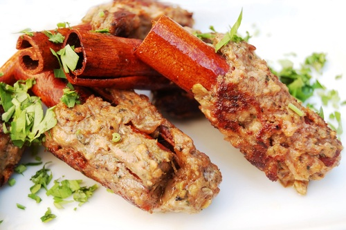 How to cook lamb - Passover ground lamb on a cinnamon stick